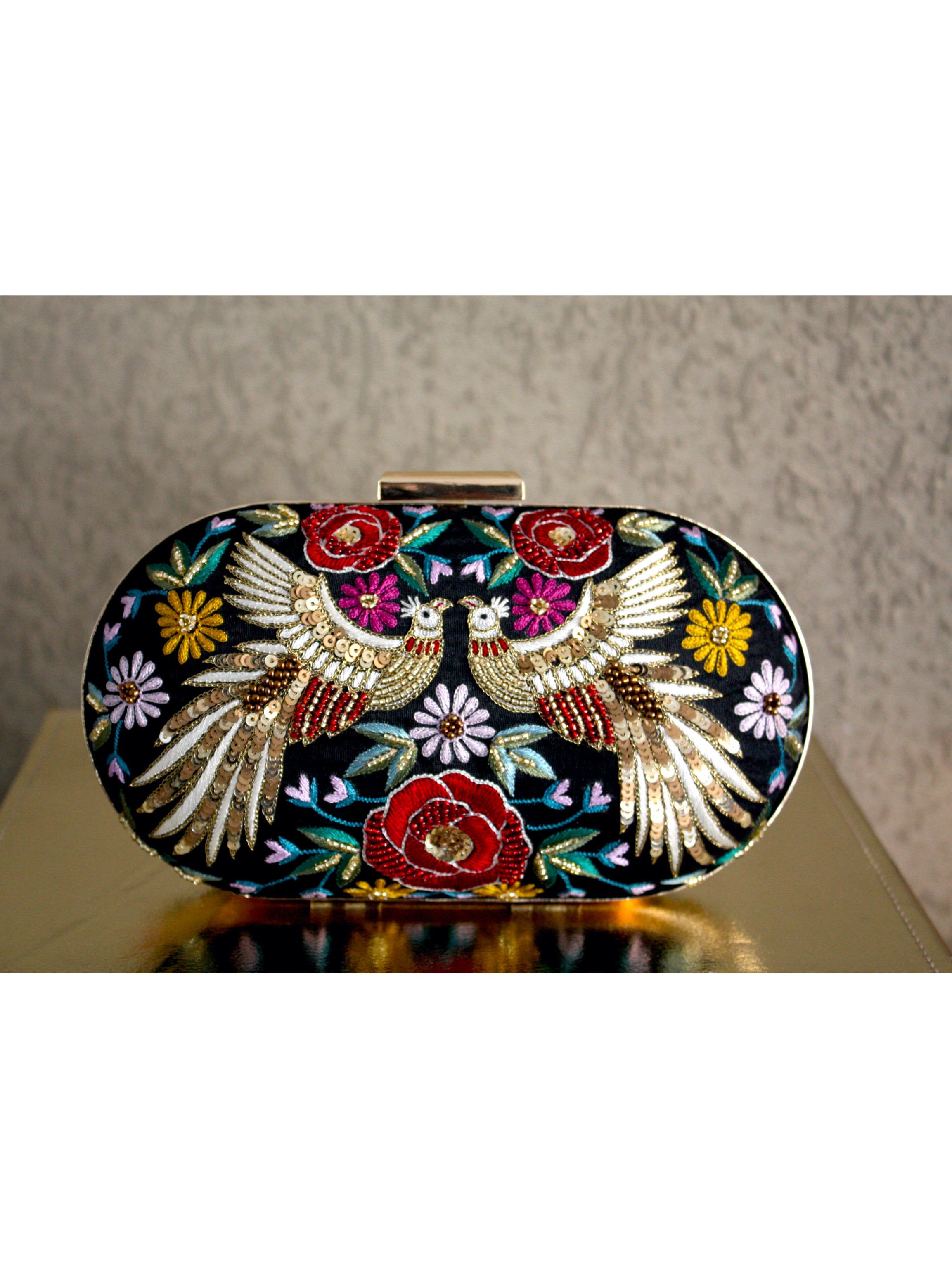 BLACK PHOENIX CLUTCH BAG image 2