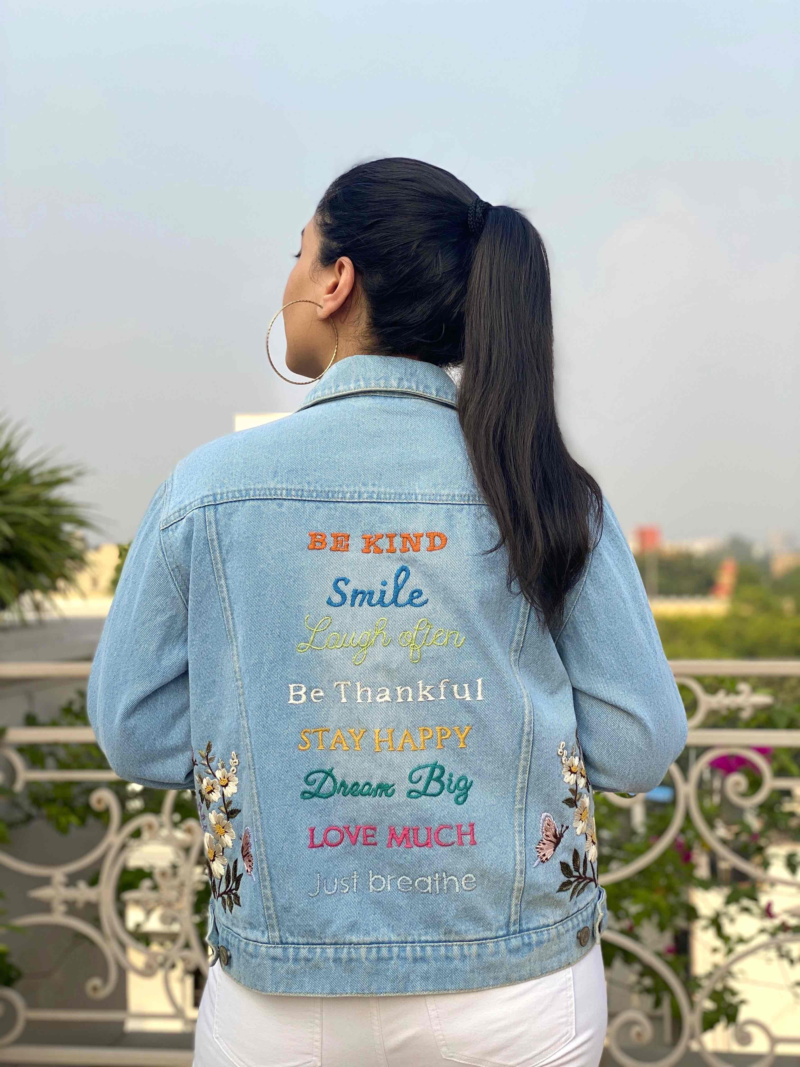 The Happiness Project Denim Jacket image 6