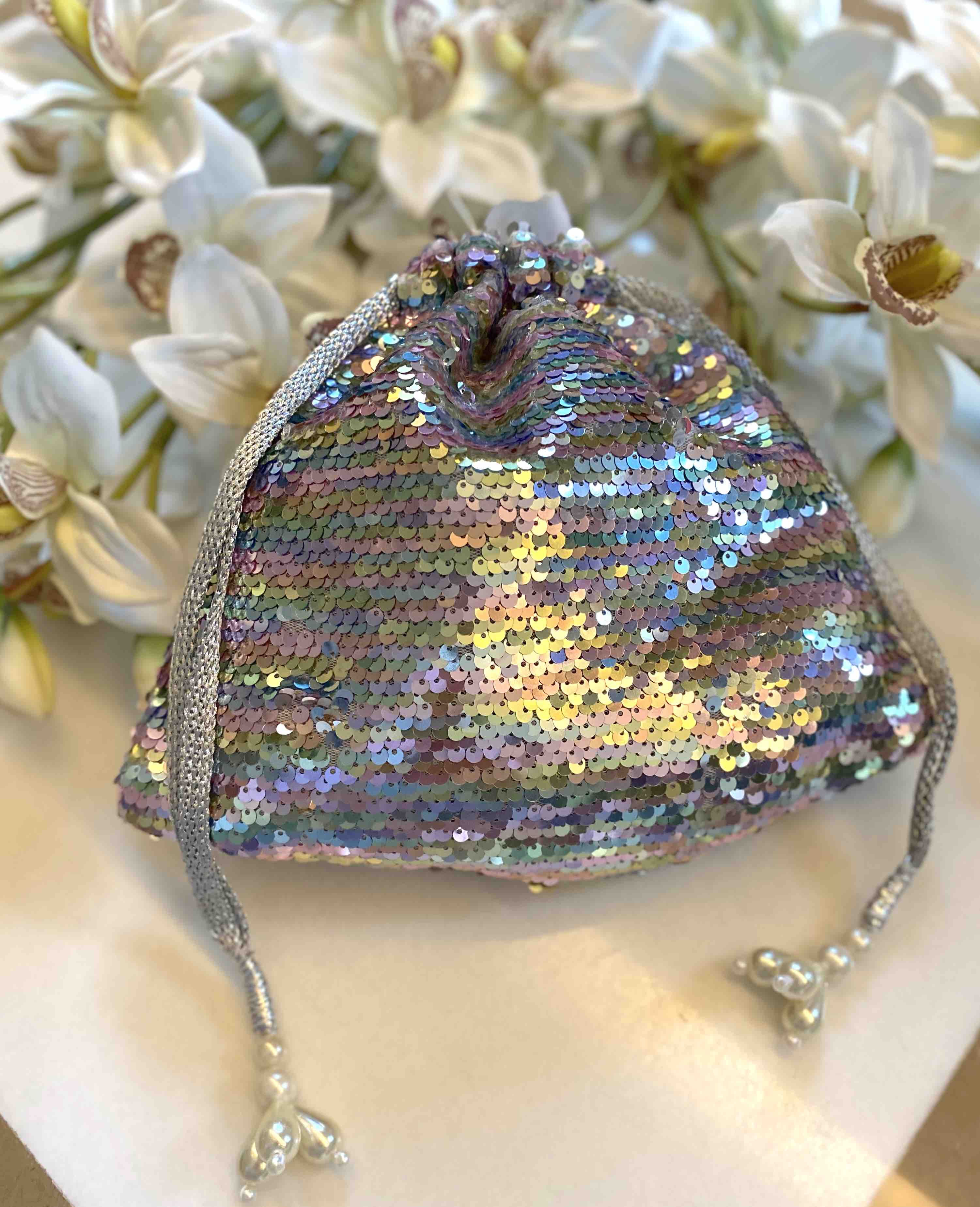 ISABEL SEQUIN POUCH image 1